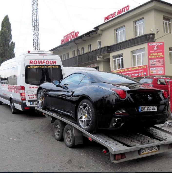 Vehicul special pentru transport auto pe platforma - Romfour