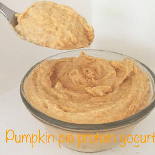 Pumpkin Pie Protein Yogurt [Clean, Gluten Free, Lower Carb].