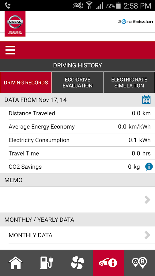 Nissan Canada LEAF- screenshot