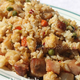 Step by Step Pork and Egg Fried Rice.