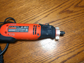 Photo: Dremel collar seems to work from more than one angle.