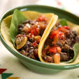 Garlicky Black Bean and Summer Squash Soft Tacos.