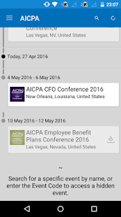 AICPA Conferences- screenshot thumbnail