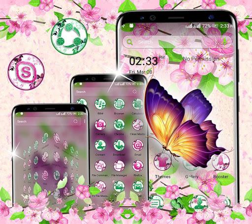 butterfly flower launcher theme screenshot 3
