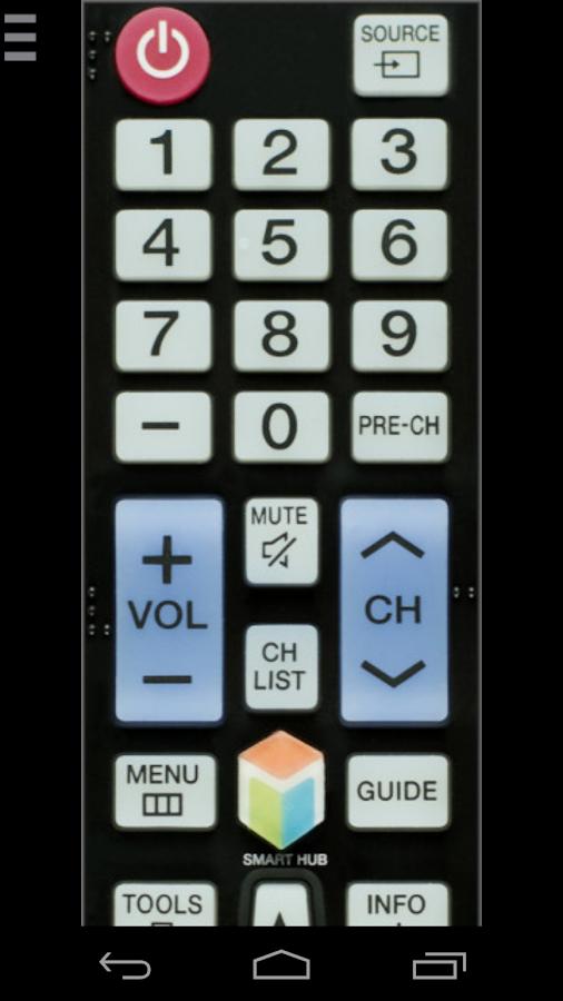 Tv samsung remote control app