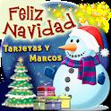 Feliz Navidad Feliz año nuevo 2021 Tarjetas-Marcos icon