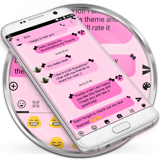 SMS Messages Bow Pink Black