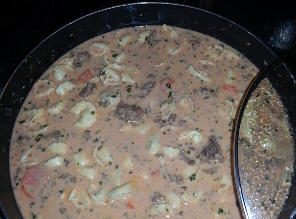 Add Half and Half and bring back to boil. Then add sausage, tortellini and...