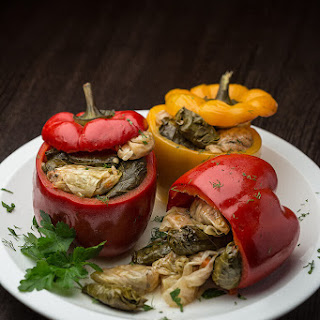 Stuffed Peppers with Cabbage Rolls