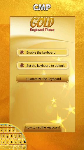 玩免費個人化APP|下載ゴールドキーボードのテーマ app不用錢|硬是要APP