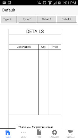 Auto Repair Invoice Screenshot