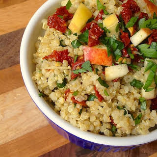 Quinoa with Sun-Dried Tomatoes, Apples and Scallions.