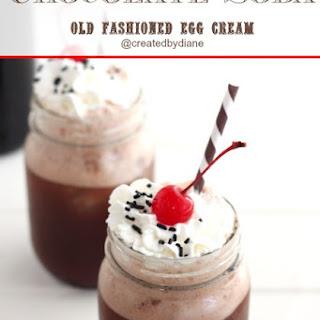 Old Fashioned Egg Cream-Chocolate Soda