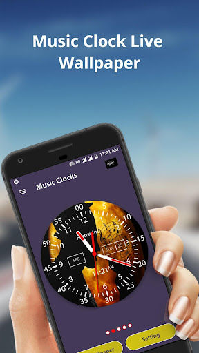 Music Clock Live Wallpaper & Widget 1.6 screenshots 2