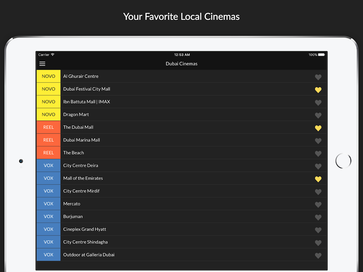UAE Cinema Showtimes - Local Movie Shows Nearby- screenshot