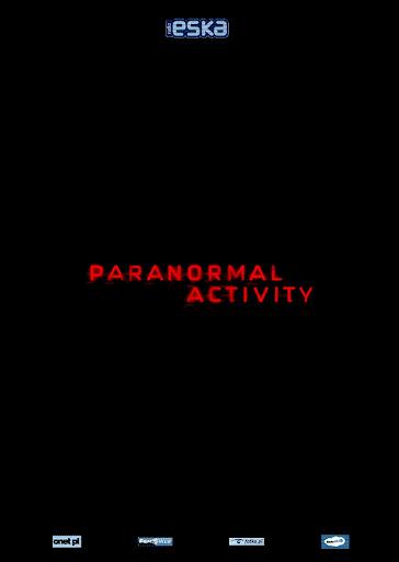 Przód ulotki filmu 'Paranormal Activity'