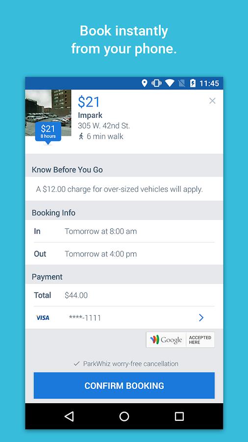 ParkWhiz: On Demand Parking- screenshot