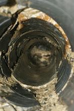 Photo: das Loch, 25 cm Durchmesser