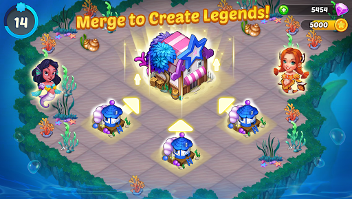 Merge Mermaids-design home&create magic fish life. 1.0.2 screenshots 1