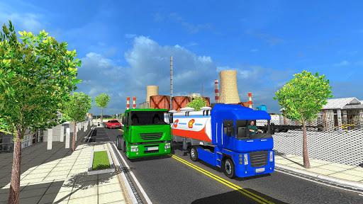 Big Oil Tanker Truck US Oil Tanker Driving Sim screenshots 11