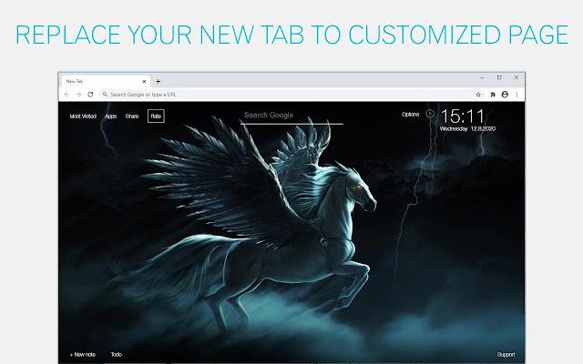 Pegasus Wallpaper HD Pegasus New Tab