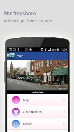 Murfreesboro Map offline