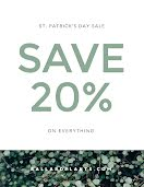 St. Patrick's Day Discount - Poster item
