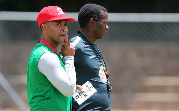 SA national Under-20 men's team head coach Thabo Senong (L) and his assistant Helman Mkhalele (R).