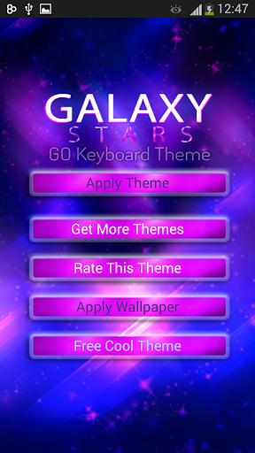 GO Keyboard Galaxy Stars Theme