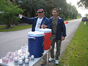 Photo: Frank and David making sure that you are fully hydrated!