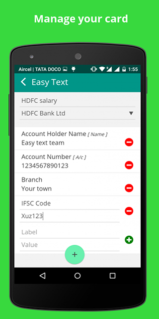 Easy Text - Account manager- screenshot