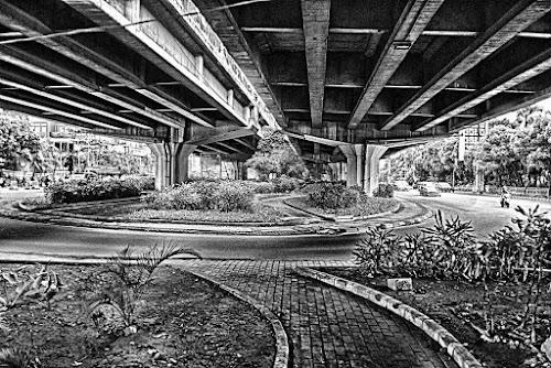 Life under the bridge by Tigor Lubis - Black & White Street & Candid