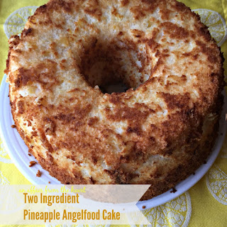 Two Ingredient Pineapple Angel Food Cake