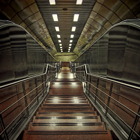 Metro subway by Ciddi Biri - Buildings & Architecture Other Interior ( reflection, stairs, subway, metro, istanbul )