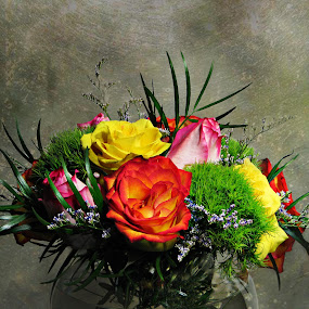 VALENTINE BOUQUET by Sharon Pierson - Artistic Objects Other Objects ( bouquet, textured, roses, valentine )