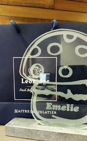 Glas - Personaliseren van een glazen paddenstoel Leonidas