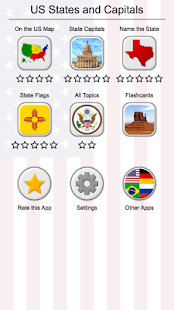 50 US States Map, Capitals & Flags - American Quiz - náhled