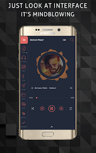 Gesture Music Player Screenshot