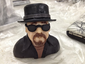Photo: Bettina's little side project on friday night....Walter White