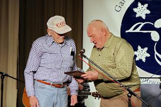 Photo: Presentation of the award to Joe Coe