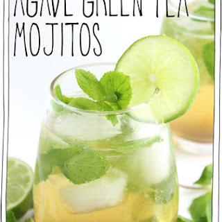 Agave Green Tea Mojitos.