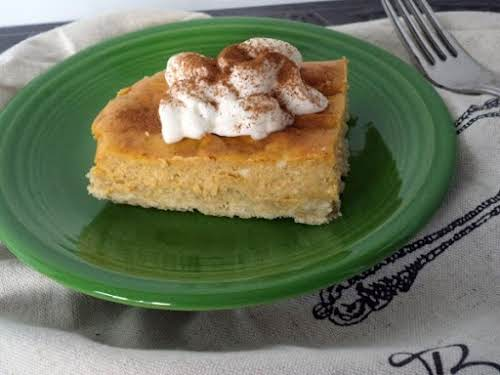 "Click Here for Recipe: Pumpkin Cheesecake Bars ""I just made these. I..."