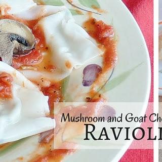 Mushroom and Goat Cheese Ravioli Recipe