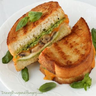 Broccoli Pesto Mushroom Grilled Cheese.