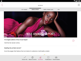 Screenshot of L'Oréal Finance, investors