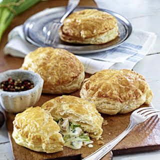 Chicken and Leek Puff Pastry Pies.