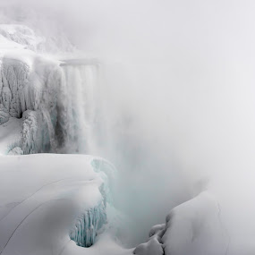 Frozen Face by Tammy Scott - Landscapes Weather ( water, cold, nature, ice, waterfall, frozen )