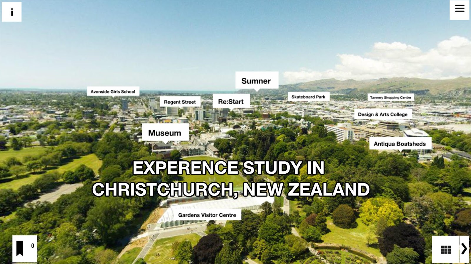 Christchurch Educated VR App- screenshot