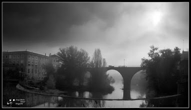 Photo: View of the village where I live, with a 14-century bridge, in a foggy day  #MyTownTuesday