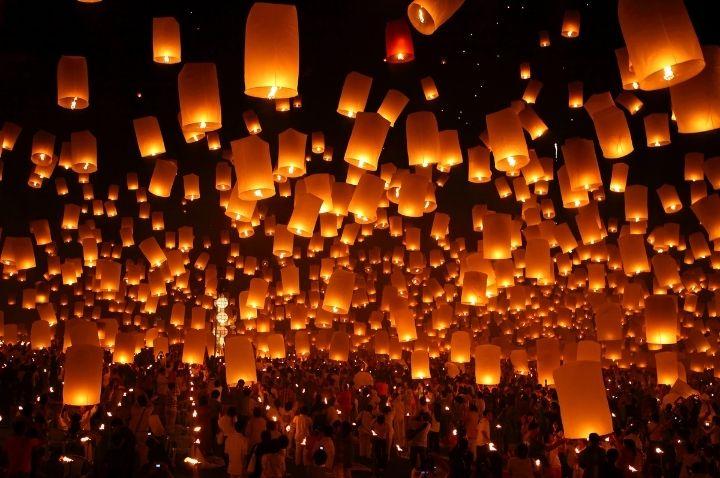 Yi Peng Lantern Festival in Thailand